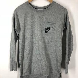 NIKE Women's XS Grey Long Sleeve Signal Tee Shirt